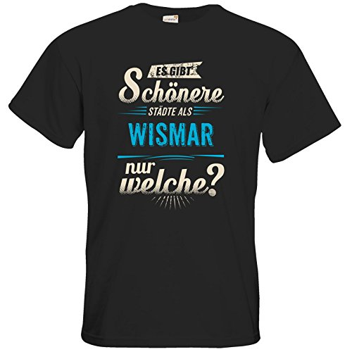 getshirts - RAHMENLOS® Geschenke - T-Shirt - Heimat Stadt - Wismar - blau