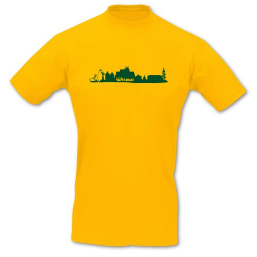 T-Shirt Wismar Skyline Sol's Imperial 8 Farben S - 5XL