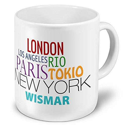 XXL Jumbo-Städtetasse Wismar - XXL Jumbotasse mit Design Famous Cities of the World - Städte-Tasse, Städte-Krug, Becher, Mug